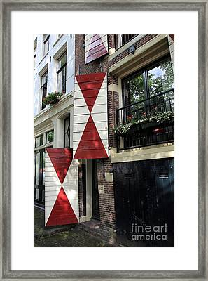 Amsterdam House Facade Framed Print by Sophie Vigneault