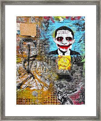 Amsterdam Obama Graffiti Framed Print