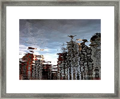 Framed Print featuring the photograph Amsterdam Reflections by Andy Prendy
