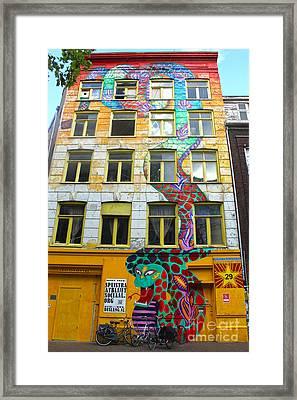Amsterdam Snake Graffiti Mural Framed Print by Gregory Dyer