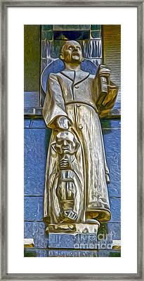 Amsterdam Statue Framed Print by Gregory Dyer