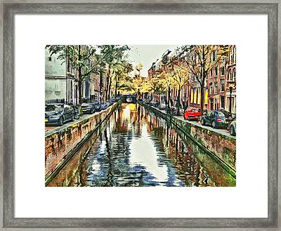 Amsterdam Tour  The Fall Framed Print by Yury Malkov