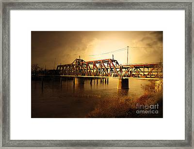 Amtrak California Gold Usa Framed Print by Wingsdomain Art and Photography