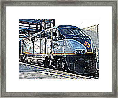 Amtrak Locomotive Study 1 Framed Print by Samuel Sheats