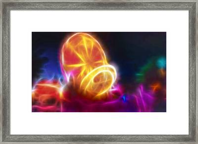 Amusement Park Rides After Dark 2 Framed Print