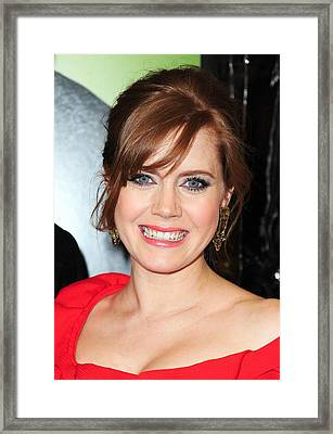 Amy Adams At Arrivals For Leap Year Framed Print