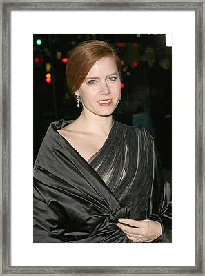 Amy Adams At Arrivals For The 2008 Framed Print