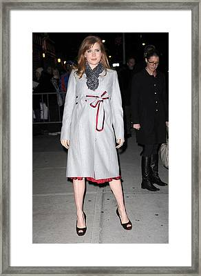 Amy Adams In A Louis Vuitton Scarf Framed Print