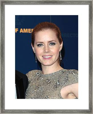 Amy Adams In The Press Room For Press Framed Print