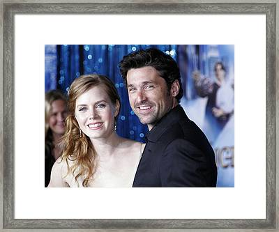 Amy Adams, Patrick Dempsey At Arrivals Framed Print by Everett