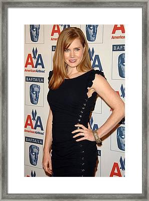 Amy Adams Wearing An Azzaro Dress Framed Print by Everett