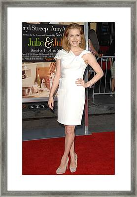Amy Adams Wearing An Rm By Roland Framed Print by Everett