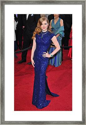 Amy Adams Wearing Lwren Scott Dress Framed Print