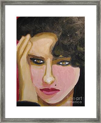 Framed Print featuring the painting Amy by Diana Riukas