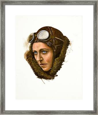 Framed Print featuring the painting Amy Johnson by Karen Wilson