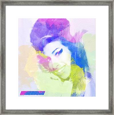 Amy Winehouse Framed Print by Naxart Studio