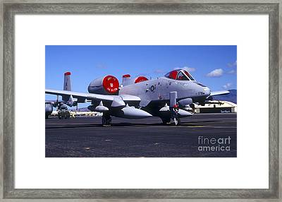 An A-10 Thunderbolt II Parked Framed Print