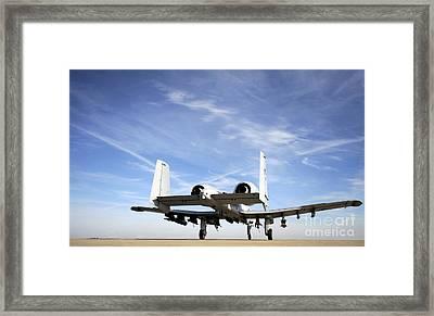 An A-10 Thunderbolt II Taxies Framed Print