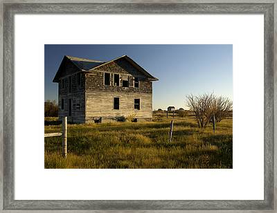 An Abandoned Hospital Stands Alone Framed Print by Pete Ryan