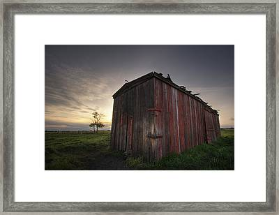 An Abandoned Railway Boxcar Converted Framed Print by Dan Jurak