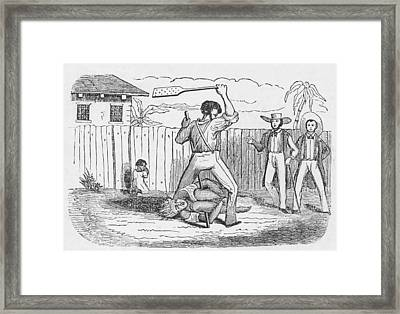 An Abolitionists Image Shows An Framed Print