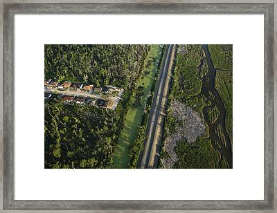 An Aerial View Of New Construction Framed Print