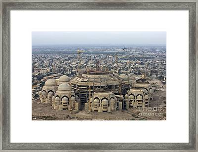 An Aerial View Of Saddam Hussiens Great Framed Print by Terry Moore