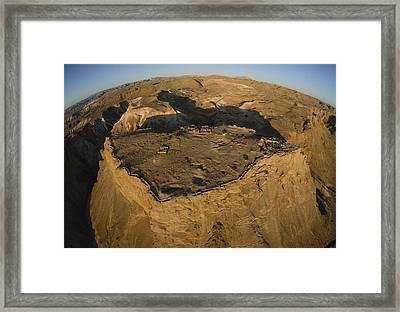 An Aerial View Of The Ancient Jewish Framed Print by James L. Stanfield