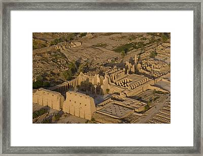 An Aerial View Of The Large Temple Framed Print