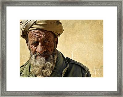 An Afghan Elder From Zabul Province Framed Print
