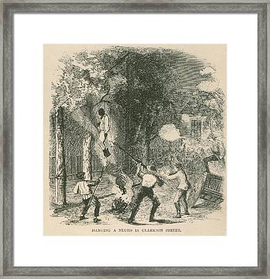 An African American Was Attacked Framed Print by Everett