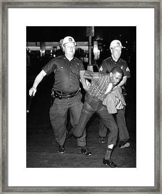 An African American Who Police Accused Framed Print by Everett