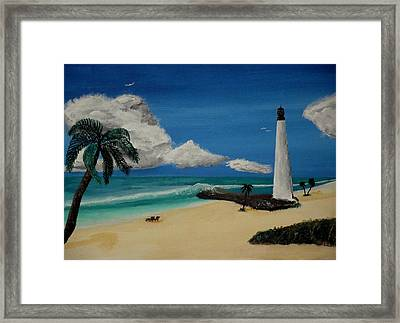 An Afternoon By The Lighthouse Framed Print by Spencer Hudon II
