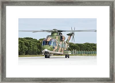 An Agusta Westland Eh101 Framed Print by Giovanni Colla