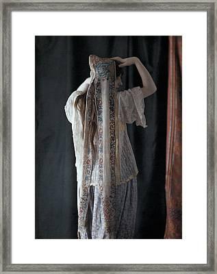 An Algerian Woman Models A Headdress Framed Print by Gervais Courtellemont