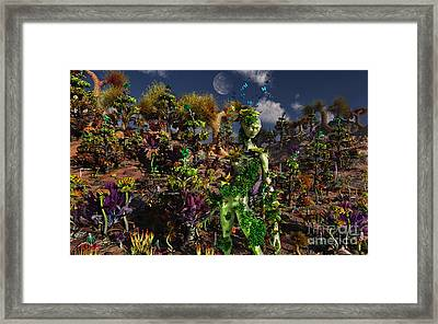 An Alien Being Blending Framed Print