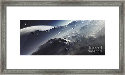 An Alien Scout Ship Escapes A Terra Framed Print