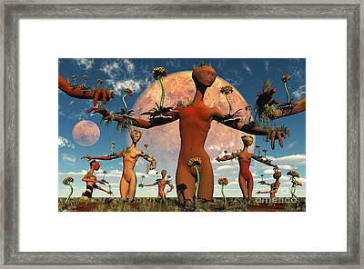 An Alien Society At One With Itself Framed Print