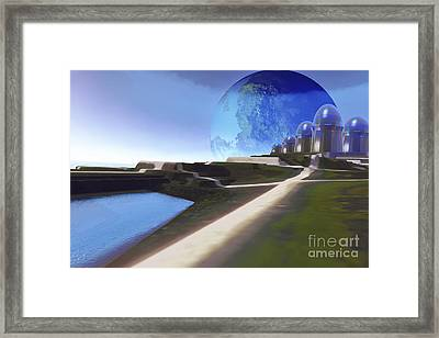 An Alien World With Strange Framed Print by Corey Ford