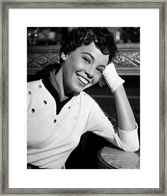 An American In Paris, Leslie Caron, 1951 Framed Print