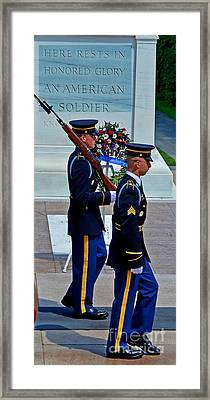 An American Soldier Framed Print
