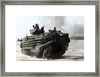 An Amphibious Assault Vehicle Hits Framed Print