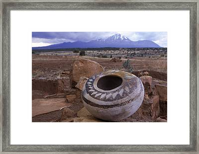 An Ancient Pottery Seed Jar Framed Print by Ira Block