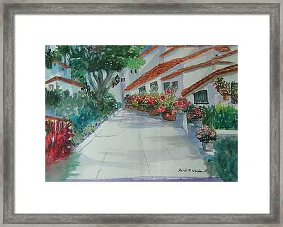 An Andalucian Street Framed Print by Heidi Patricio-Nadon