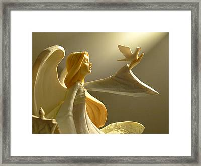 Framed Print featuring the photograph An Angelic Offering Of Peace by Cindy Wright