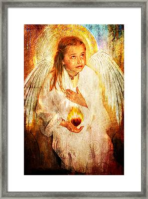Framed Print featuring the photograph An Angels Heart  by Nada Meeks