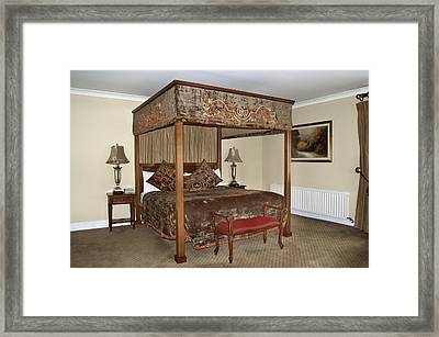 An Antique Style Four Poster Bed Framed Print by Will Burwell