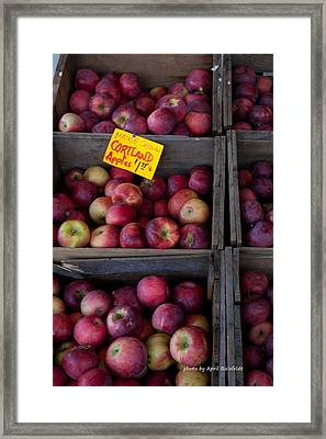 An Apple A Day Framed Print by April Bielefeldt