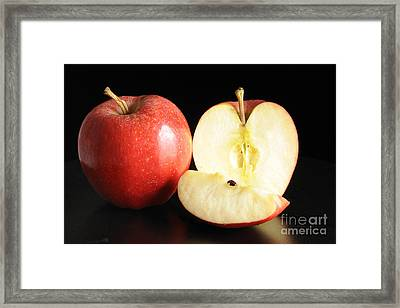 An Apple A Day... Framed Print by Nancy Greenland