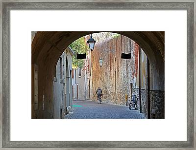 An Arch In Arco Framed Print